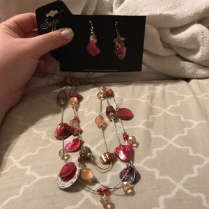 Necklace and earring set by sapphire
